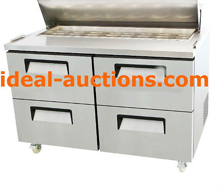 """60"""" SANDWICH PREP TABLE WITH DRAWERS"""