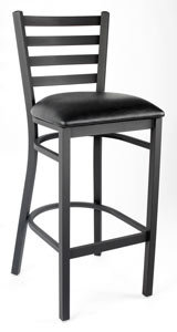 LADDER BACK METAL BAR STOOL - 4 COLORS AVAILABLE