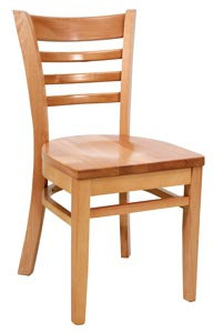 HARDWOOD CHAIR  - LIGHT NATURAL  FINISHED SEAT