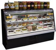 """35""""  CURVED GLASS REFRIGERATED DISPLAY CASE - 7 YEAR COMPRESSOR  WARRANTY"""