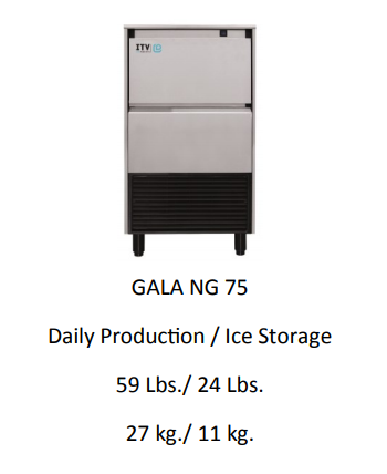 GALA NG75A UNDER COUNTER ICE MAKER