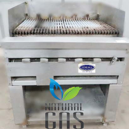 "32"" gas char broiler with stand"