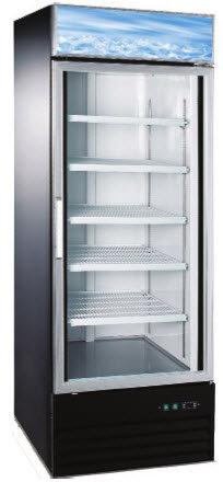 Glass door freezer display