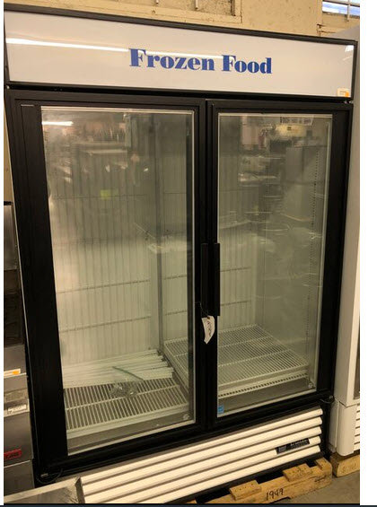 True 2 door upright display freezer
