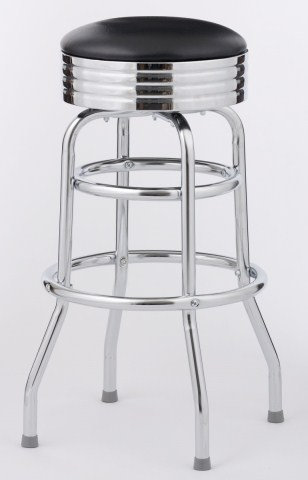 BAR STOOL  - 6 COLOR CHOICE  - CLASSIC 1950'S DINER