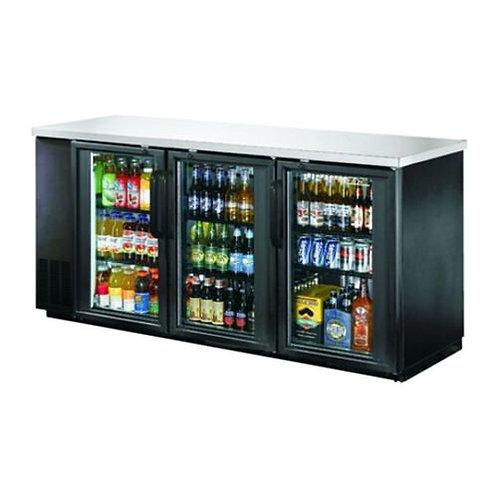 NEW AIRE 90″ 3 Door Glass Back Bar Refrigerator