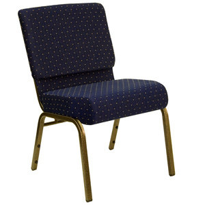 "21"" Extra Wide Church Chair with Gold Vein Frame"