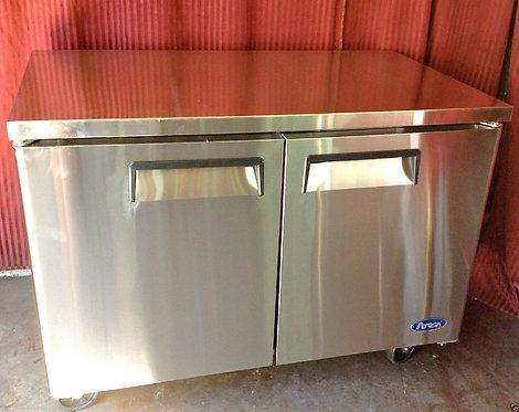 """NEW 60"""" 2 Door Under Counter Refrigerator"""