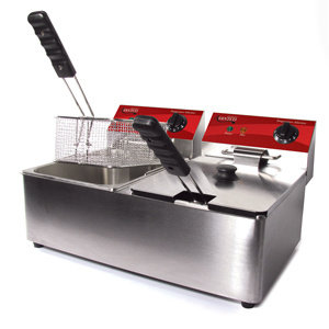 DOUBLE ELECTRIC COUNTER TOP DEEP FRYER