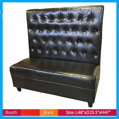 Booths Seating Black Button Style Commercial Restaurant Booth Seat