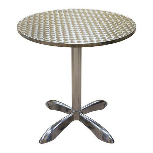 "27 1/2"" ROUND OUTDOOR ALUMINUM TABLE"
