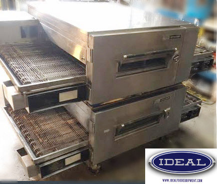 Lincoln Impinger Gas Double Stack Conveyor Pizza ovens Model 1600