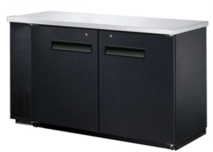 """BLACK SOLID DOOR BACK BAR 24"""" DEEP - 3 SIZES TO CHOOSE FROM"""