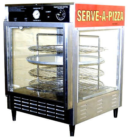 HEATED ROTATING PIZZA DISPLAY CABINET