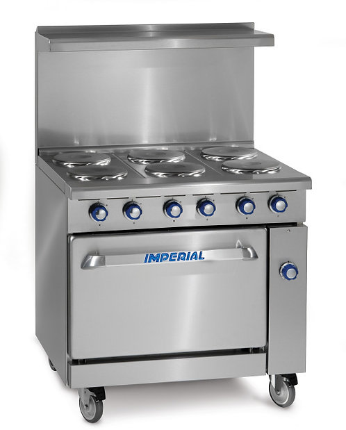 6 Burner electric range with oven