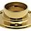 "Thumbnail: Classic Service Bar Rail - 2"" Diameter - Polished Brass Finish"
