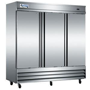 3 Door Reach In Refrigerator Stainless Steel