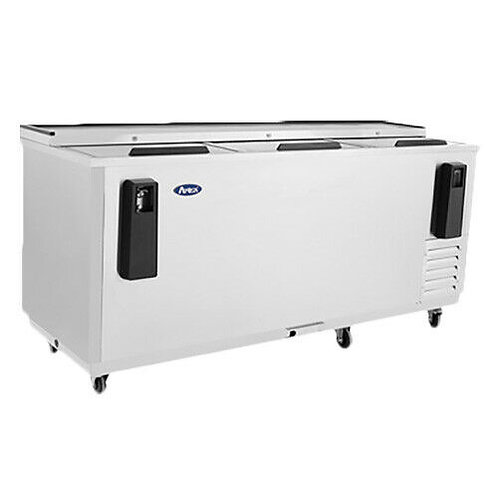"80"" Horizontal Stainless Steel Bottle Cooler"