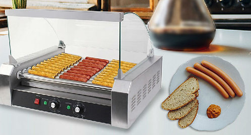 Commercial 30 Hot Dog Hotdog oller Grill  w/ cover -