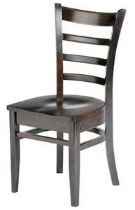 HARDWOOD CHAIR  - DARK WALNUT  FINISHED SEAT
