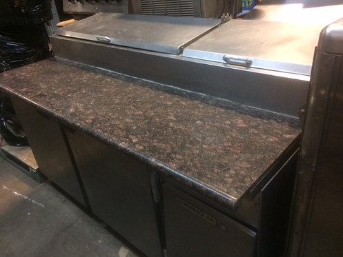 """67"""" PIZZA PREP TABLE WITH MARBLE TOP - BEVERAGE AIR"""