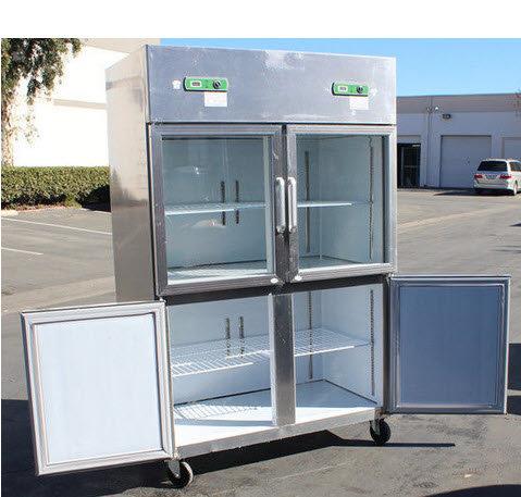 "47"" Half Door Dual Temperature Freezer Refrigerator commercial combination"