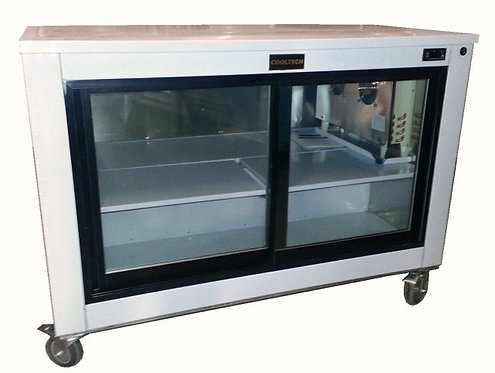"60"" Sliding Glass Doors Back Bar Worktop Display Cooler"