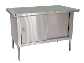 "30"" x 48"" Stainless Work Table Cabinet without Backsplash"