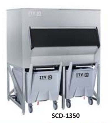 SCD 1350 - ICE STORAGE BIN WITH CARTS