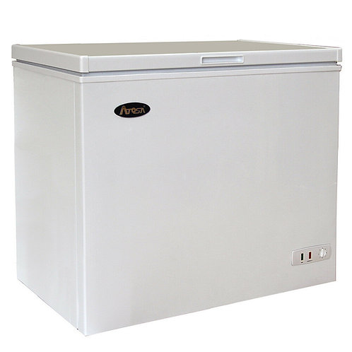 Commercial 7 cu ft Solid Top Chest Freezer w/ White Coated Exterior