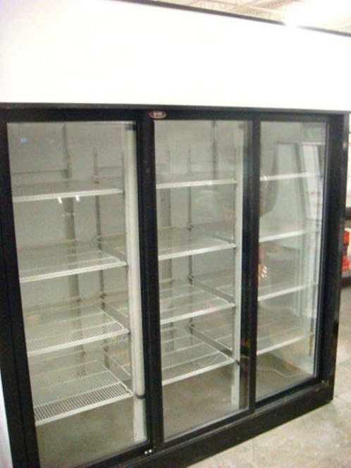 3 door glass front refrigerator QBD - Canadian Made