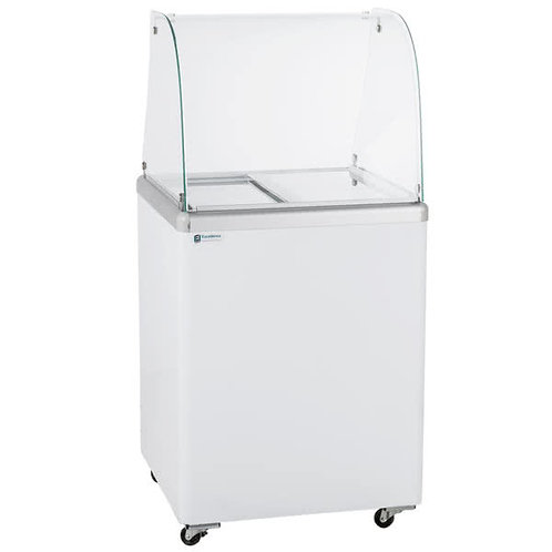 4 TUB ICE CREAM DIPPING CABINET - CURVED GLASS or Straight Glass