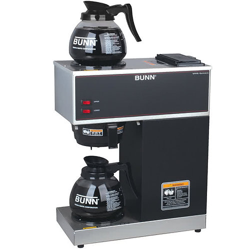 BUNN VPR 12 Cup Pourover Coffee Brewer - 2 Warmers - 120V, Factory Refurbished