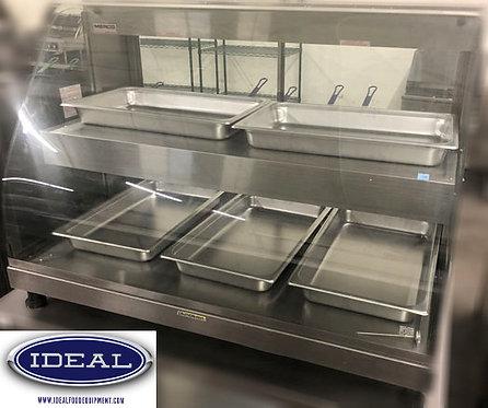 5pan hot food counter top display case
