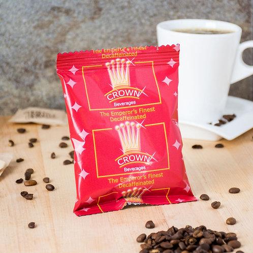 Crown Beverages Emperor's Finest Premium Blend Decaf Coffee - (80) 2 oz. Packets