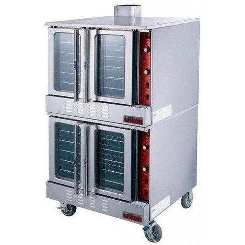 2 Natural Gas/Propane Double Convection Oven - Fits 10 Full Size Sheet Pans