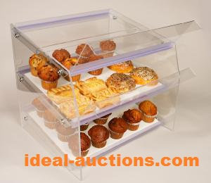 TWO TIER PASTRY DISPLAY CASE - DRY