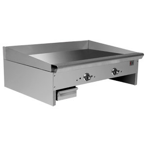"36"" COUNTERTOP GRIDDLE WITH THERMOSTATIC CONTROLS - 66,000 BTU"