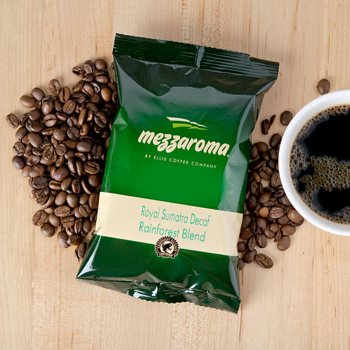 Ellis Mezzaroma 100% Rainforest Alliance Certified Dark Roast Ground Decafe  Cof