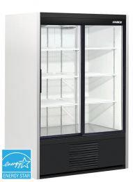 Habco 2 glass sliding door display refrigerator