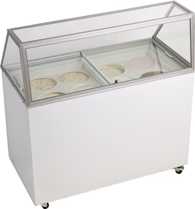 FAICE CREAM FREEZER DIPPING CABINET WITH STRAIGHT-SIDED GLASS - 12.5 Cu ft.