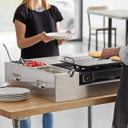 Butane or induction cooking buffet station - pancakes -egg - etc