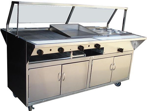 Custom cooking lines for food trucks and trailers