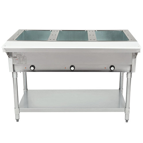Open Well Three Pan Electric Hot Food Table
