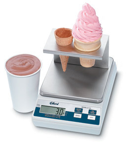 EDLUND 10 LB. DIGITAL PORTIN SCALE WITH ICE CREAM CONE PLATFORM