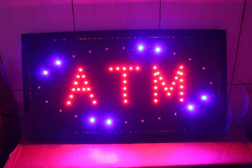 LED Neon Light Open Sign Bright ATM