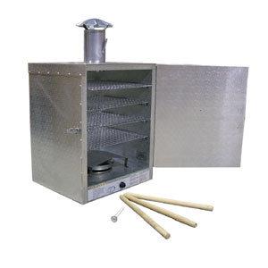 20 lb. Insulated Aluminum Smokehouse with Smokestack