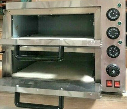 New electric double stone pizza - bakery oven - 110 volt