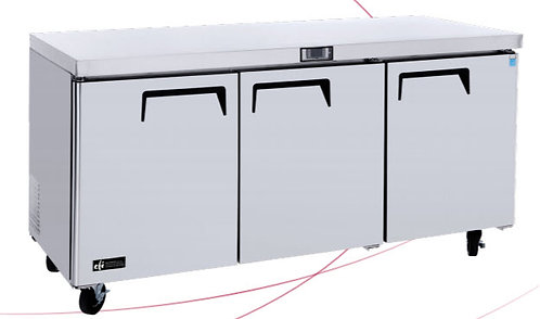 "72"" undercounter refrigerator"