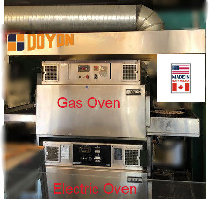 Doyon Converyor Pizza Ovens - 1 gas - 1 electric - buy either or both